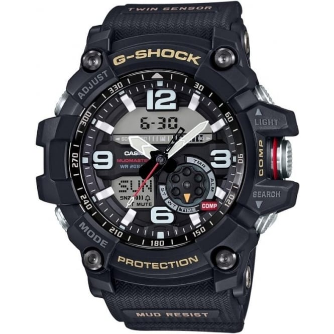 gg 1000 1aer g shock black rubber analogue and digital
