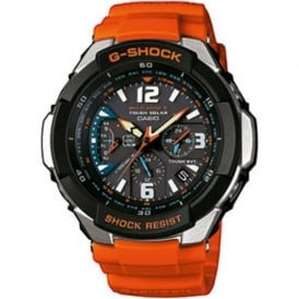 GW-3000M-4AER Tough Solar Digital Orange Chronograph Watch