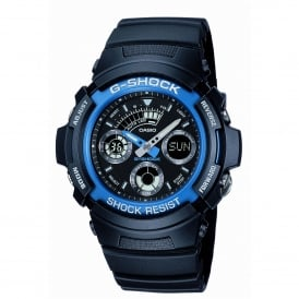 AW-591-2AER Blue & Black Resin Watch