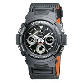 G-Shock AW-591MS-1AER Black Dial & Black Fabric Strap Men's Watch