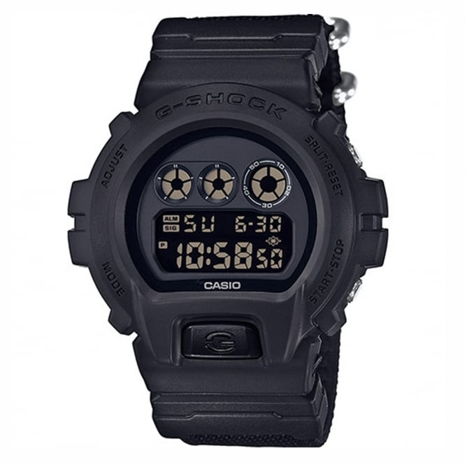 G-Shock DW-6900BBN-1ER Black Canvas Men's Digital Watch