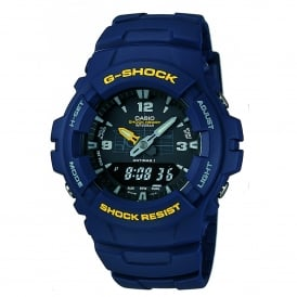 G-100-2BVMUR Dual Time Blue Resin Watch
