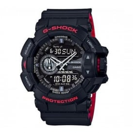 GA-400HR-1AER Casio Men's Black & Red Alarm Watch