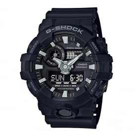 GA-700-1BER Black Rubber Alarm Chronograph Men's Watch