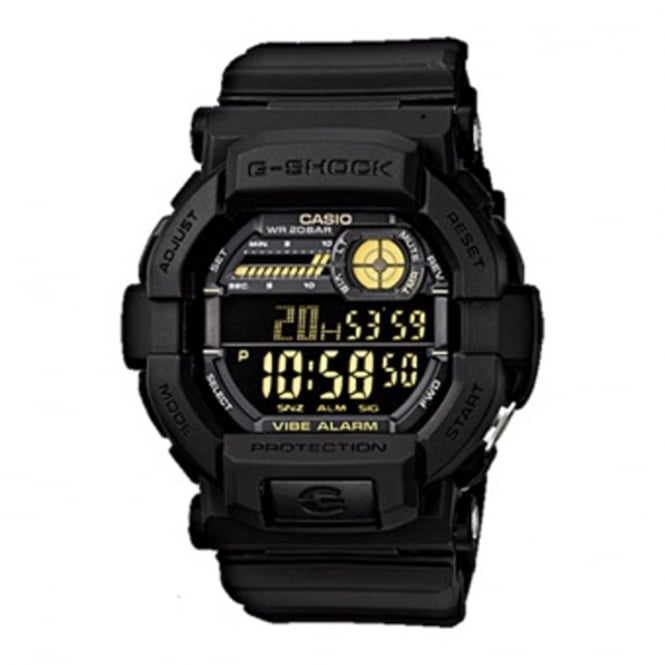 G-Shock GD-350-1BER Men's Black Alarm/Vibrating Timer Watch