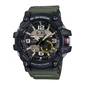 GG-1000-1A3ER Black & Green Resin Men's Watch