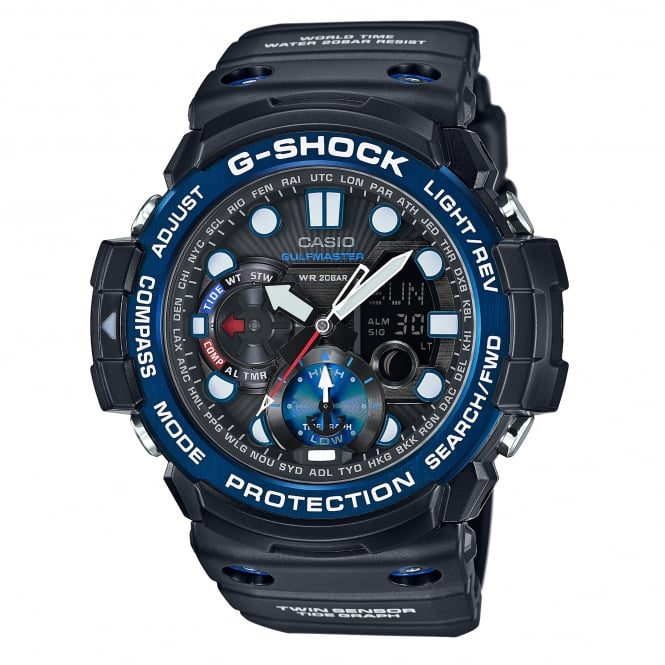 G-Shock GN-1000B-1AER Gulfmaster Tide graph and Moon Age Black Men's Watch