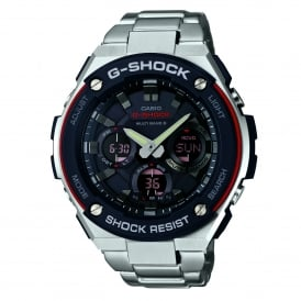 GST-W100D-1A4ER Black & Silver Stainless Steel Tough Solar Men's Watch