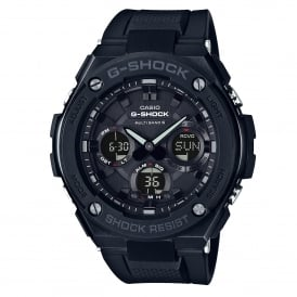 GST-W100G-1BER Black Rubber Tough Solar Men's Watch