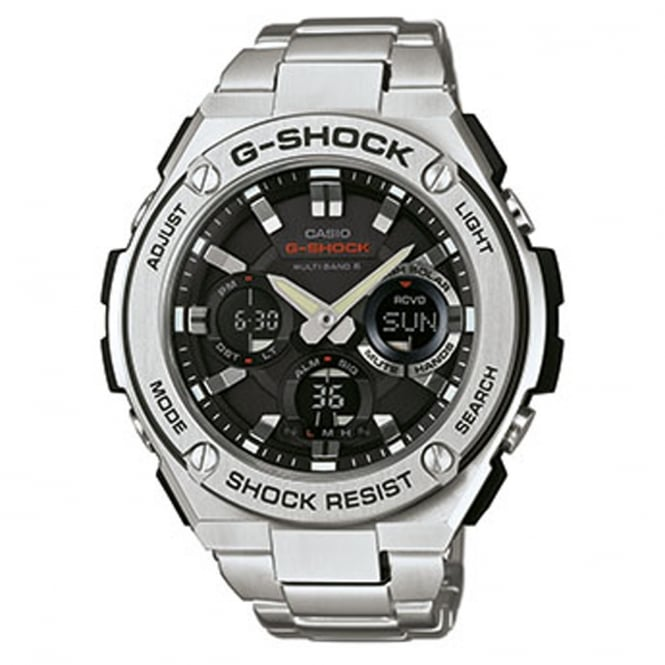 G-Shock GST-W110D-1AER Men's Stainless Steel Radio Controlled Solar Watch