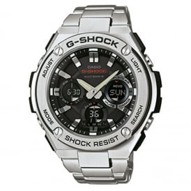 GST-W110D-1AER Men's Stainless Steel Radio Controlled Solar Watch