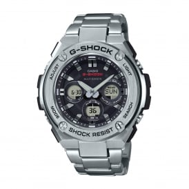 GST-W310D-1AER Silver Stainless Steel Solar Powered Men's Watch