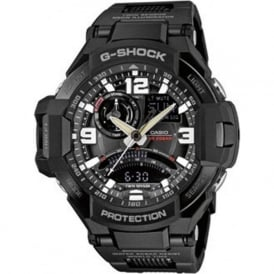 GA-1000FC-1AER Black Stainless Steel Chronograph Men's Watch