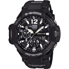 G-Shock GA-1100-1AER Gravity Master White & Black Rubber Analogue & Digital Watch