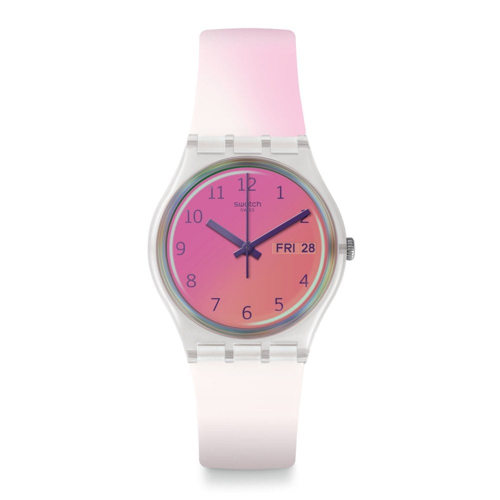 Swatch Ge719 Ultrafushia Silicone Watch Available At Tic Watches