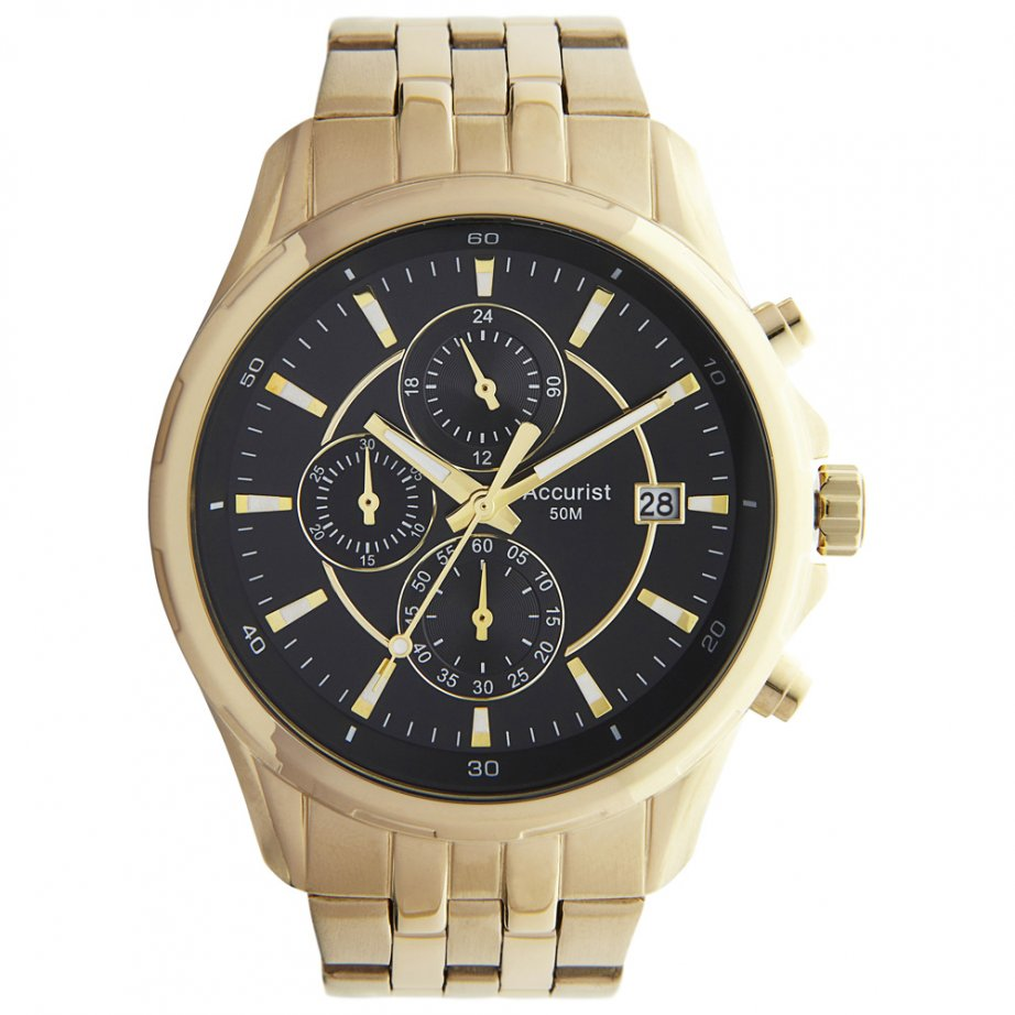 accurist gold tone chronograph mb933b cheapest
