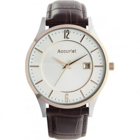 Accurist MS648 Brown Leather Gents Classic Watch