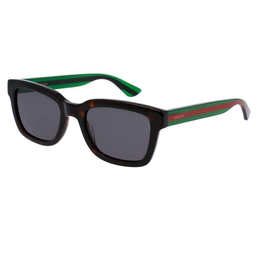 344a5ddbf6c0 GG0001S 003 52 Urban Brown Havana Red and Green Men's Sunglasses