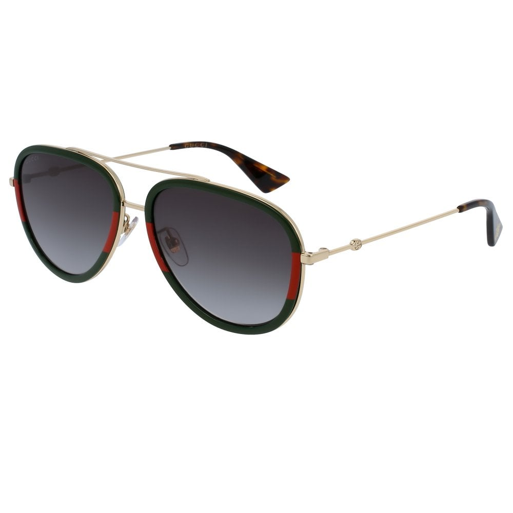 7635b5301d9 GG0062S 003 57 Urban Gold Green and Red Sunglasses