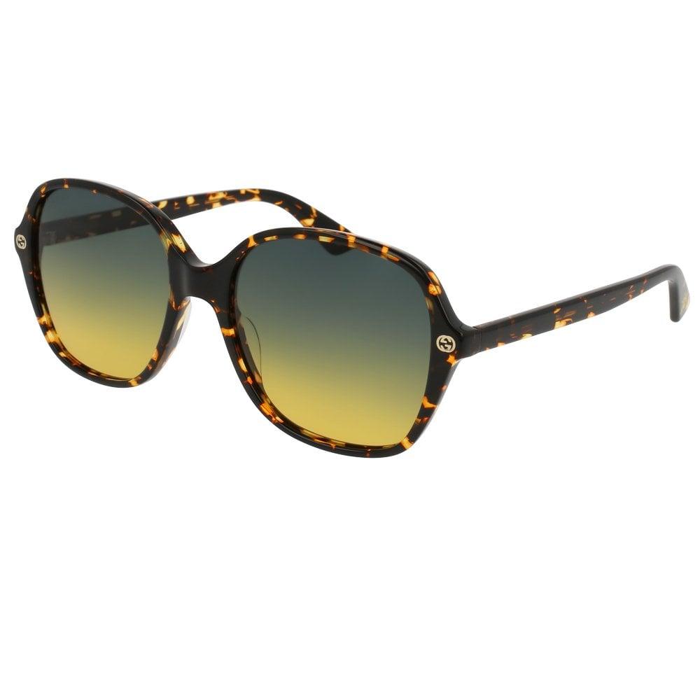 9ae6dbfc209 GG0092S 003 55 Sensual Romantic Multi Treatment Havana Ladies Sunglasses