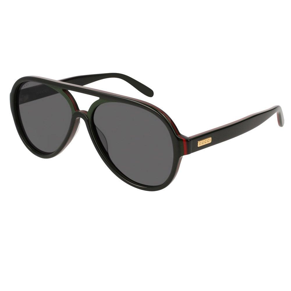 a14aad8edda1 Gucci Sunglasses Gucci Sunglasses GG0270S 002 57 Urban Black Red and Green  Men's Sunglasses