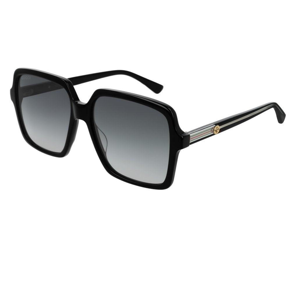bcc0f426f77 GG0375S 001 56 Web Gold and Black Ladies Sunglasses
