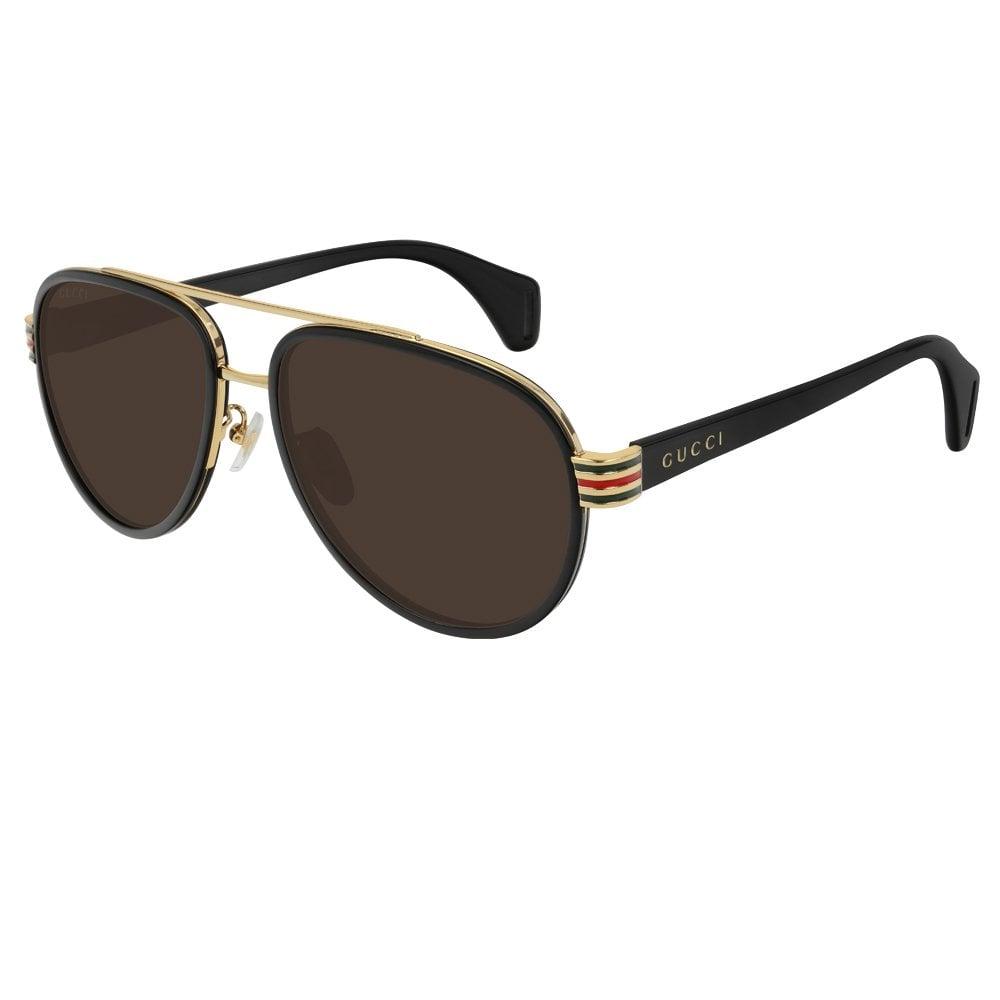 5876628521b GG0447S 003 58 Web Gold and Black Men s Sunglasses