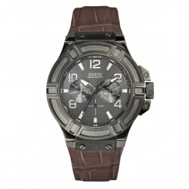Guess W0040G2 Rigor Brown & Gunmetal Men's Watch