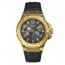 Guess W0040G4 Rigor Black & Gold Men's Watch