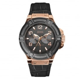 Guess W0040G5 Rigor Black & Rose Gold Men's Watch