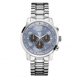 Guess W0379G6 Horizon Blue & Silver Stainless Steel Mens Watch