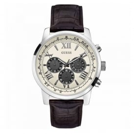 Guess W0380G1 Horizon Cream & Silver Men's Chronograph Watch