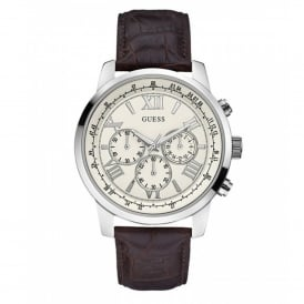 Guess W0380G2 Horizon Cream & Silver Men's Chronograph Watch
