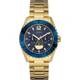 Guess W0565L4 Blue & Gold Moonstruck Chronograph Stainless Steel Watch