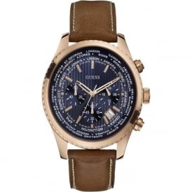 Guess W0500G1 Pursuit Rose Gold Blue Chronograph Watch