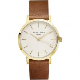 Rosefield GWBRG-G34 Gramercy Gold & Brown Leather Women's Watch