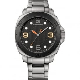 Hugo Boss Orange 1512842 Black & Silver Stainless Steel Men's Watch