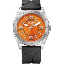Hugo Boss Orange 1512898 Men's Orange & Black Silicon Watch