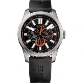 Hugo Boss Orange 1512933 Paris Men's Black Silicone Watch