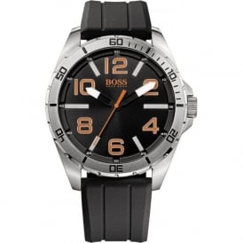 Hugo Boss Orange 1512943 Berlin Mens Black Silicone Watch