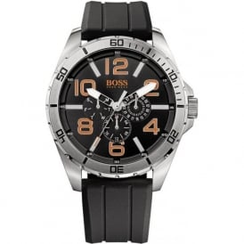 Hugo Boss Orange 1512945 Berlin Men's Black Silicone Chronograph Watch