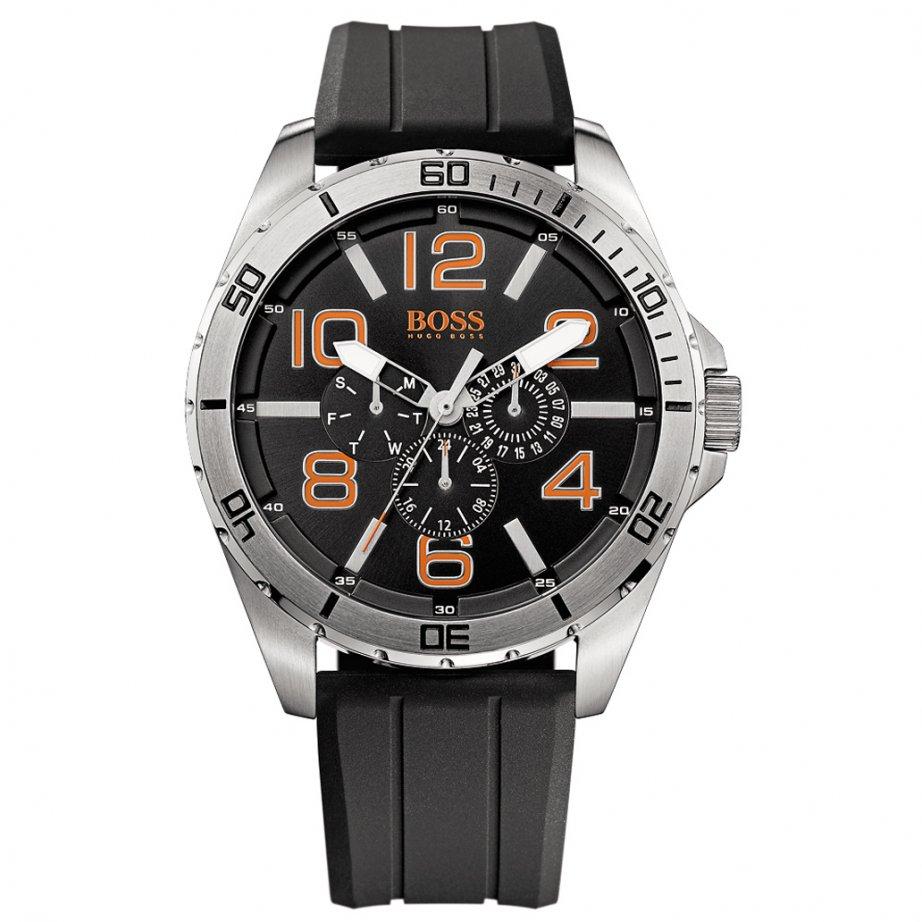 Hugo boss orange 1512945 berlin men 39 s black silicone chronograph watch hugo boss orange from for Hugo boss watches