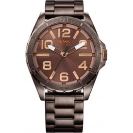 Hugo Boss Orange 1513002 Brown Stainless Steel Men's Watch