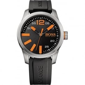 Hugo Boss Orange 1513059 Paris Men's Black Silicone Watch