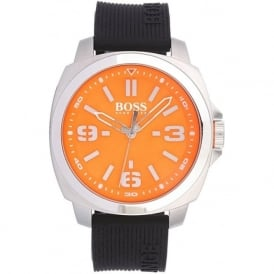 Hugo Boss Orange 1513096 Brisbane Men's Black Silicone Watch
