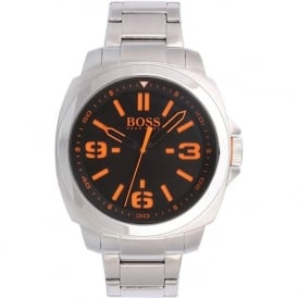 Hugo Boss Orange 1513099 Brisbane Men's Black Dial Steel Bracelet Watch