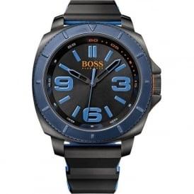 Hugo Boss Orange 1513108 Blue & Black Rubber Men's Watch