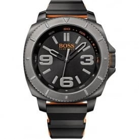Hugo Boss Orange 1513109 Men's Black Rubber Watch