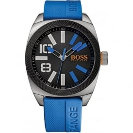 Hugo Boss Orange 1513111 London XXL Men's Blue Silicone Watch