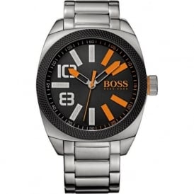 Hugo Boss Orange 1513114 London XXL Black Dial Steel Bracelet Watch